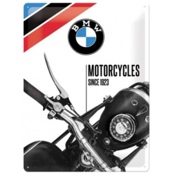 "Metal panel ""BMW Motorcycles since 1923"""