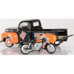 Model 1/24 Maisto Ford pickup and harley-davidson