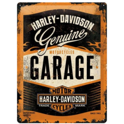 "Metal panel ""harley-davidson Garage"""