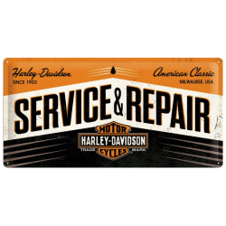"Metal panel ""serviceharley-davidson &repair"""