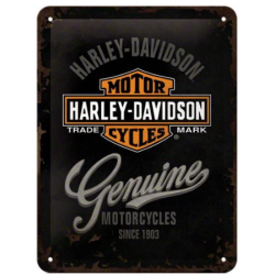 "Metal panel ""harley-davidson Genuine"""