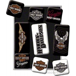 Set of 9 decorative magnets harley-davidson II