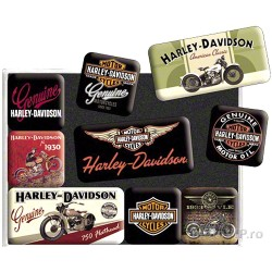 Set 9 decorative magnets harley-davidson I