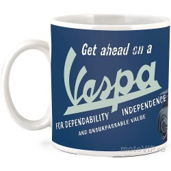 Vespa Blue mug, 330 ml