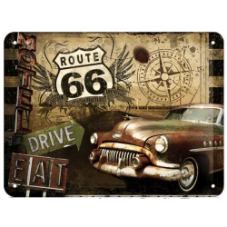 "Metal panel ""Route 66"""