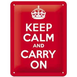 "Panou metalic ""Keep calm and carry on"""