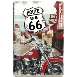 "Panou metalic ""Route 66"" 300x200 mm"
