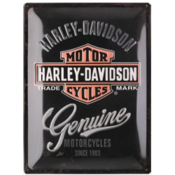 "Metal panel ""harley-davidson Genuine"" 300x400 mm"