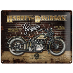 "Metal panel ""harley-davidson V-Twins"""