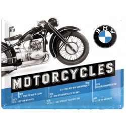 "Metal panel ""BMW Motorcycle"" 400x300 mm"