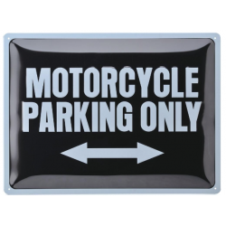 "Metal panel ""Motorcycle Parking Only"""