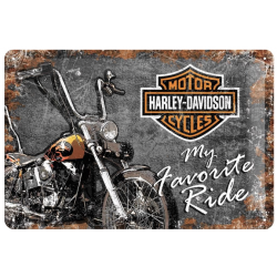 "Metal panel ""harley-davidson, my favorite ride"""